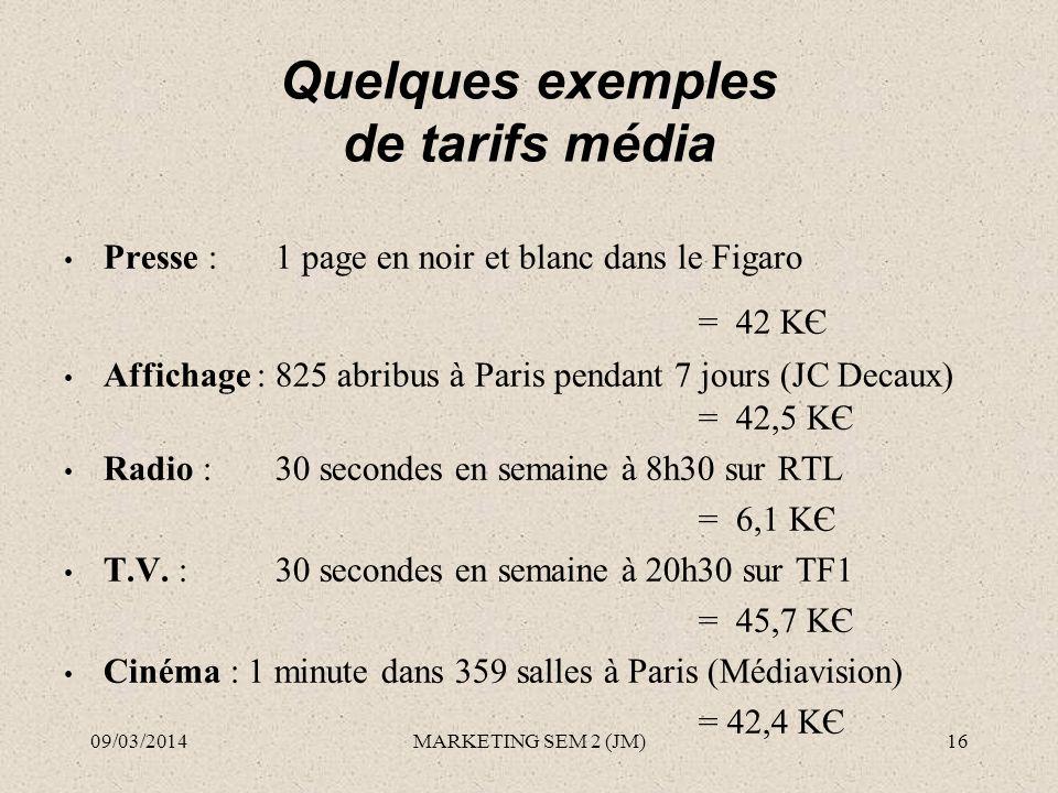 Presse : 1 page en noir et blanc dans le Figaro = 42 KЄ Affichage : 825 abribus à Paris pendant 7 jours (JC Decaux) = 42,5 KЄ Radio : 30 secondes en s