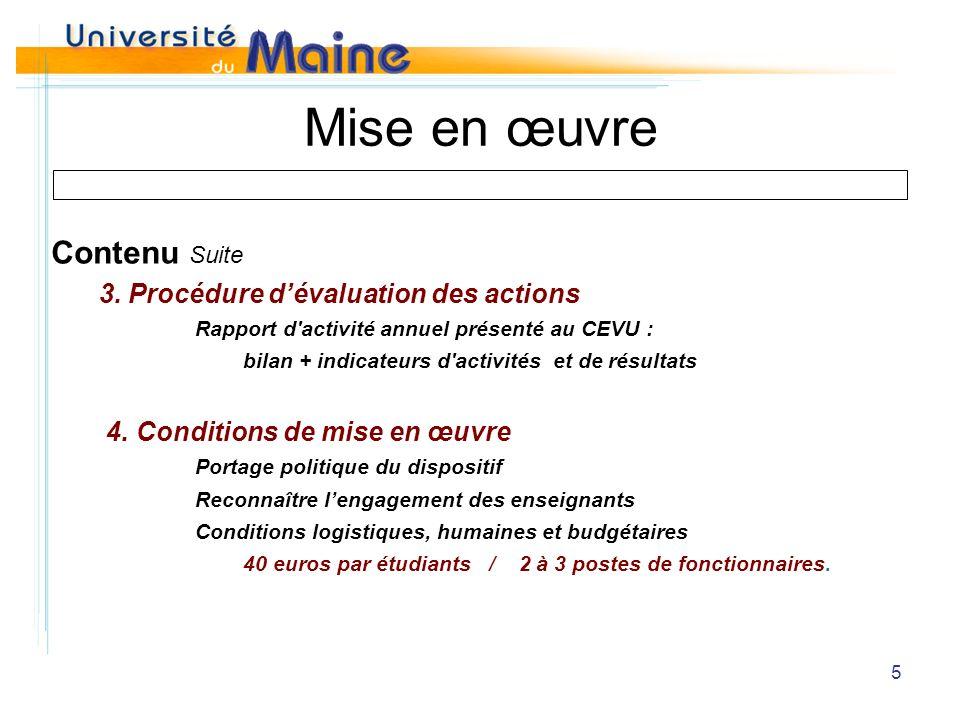 5 Mise en œuvre Contenu Suite 3.