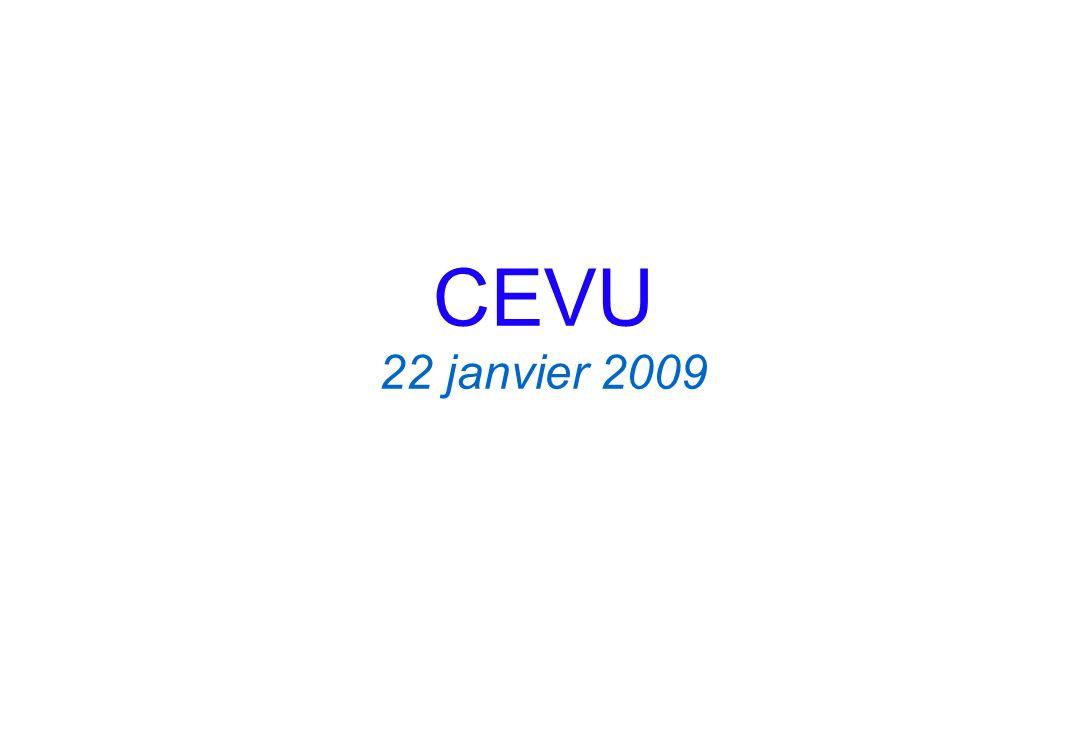 CEVU 22 janvier 2009