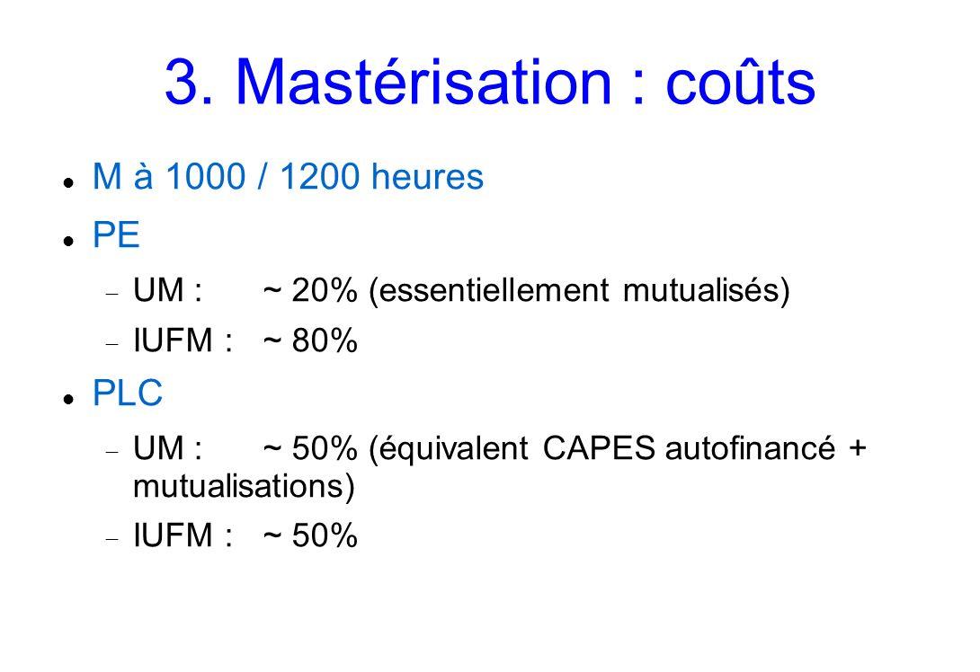 3.Mastérisation : structure 1.