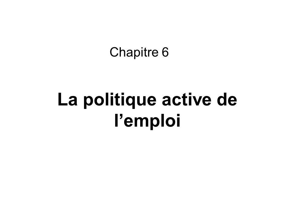 La politique active de lemploi Chapitre 6