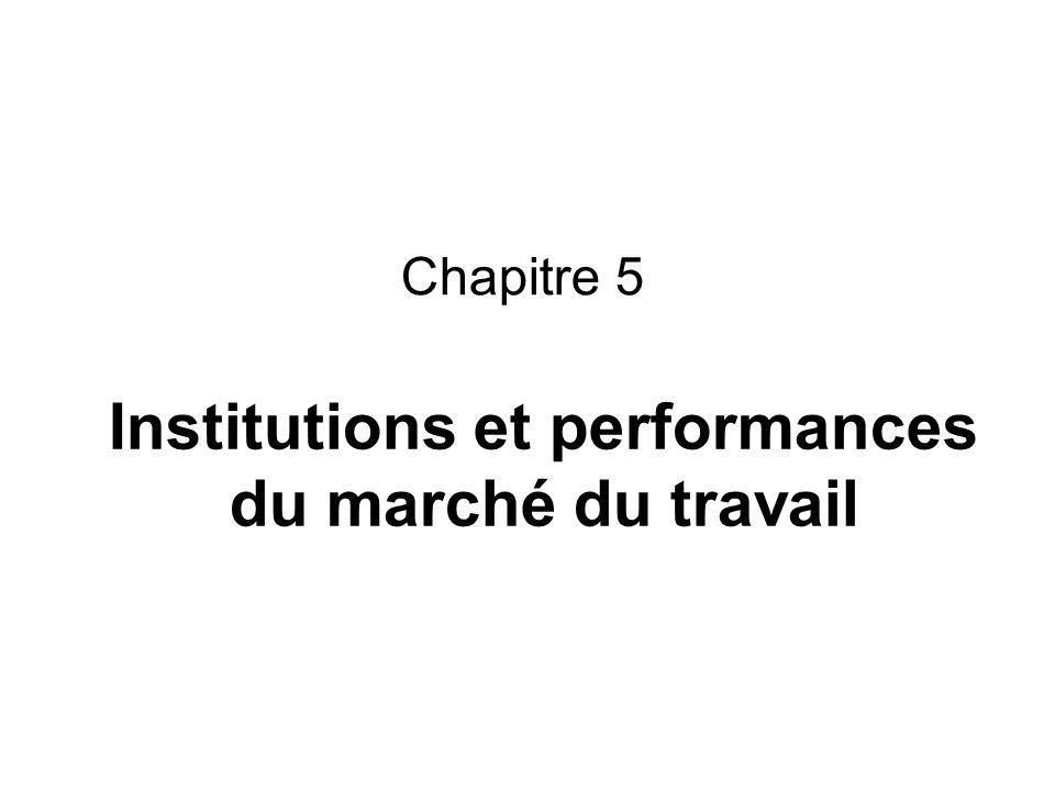 Institutions et performances du marché du travail Chapitre 5