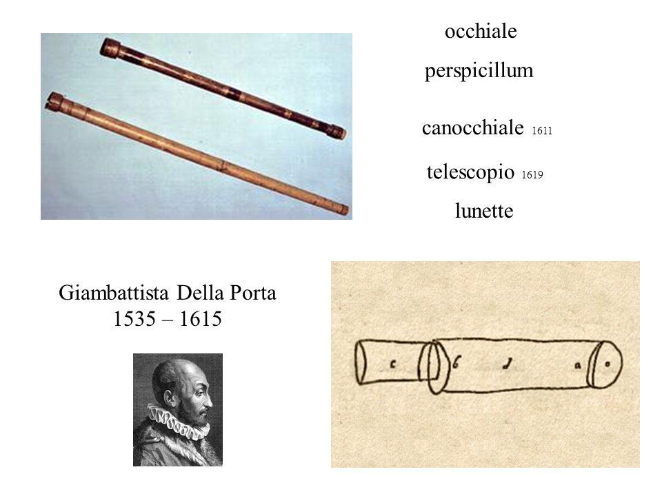 canocchiale 1611 Giambattista Della Porta 1535 – 1615 telescopio 1619 lunette perspicillum occhiale