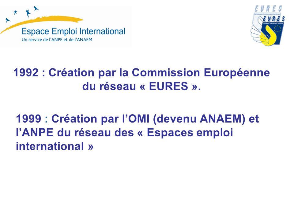 1992 : Création par la Commission Européenne du réseau « EURES ».