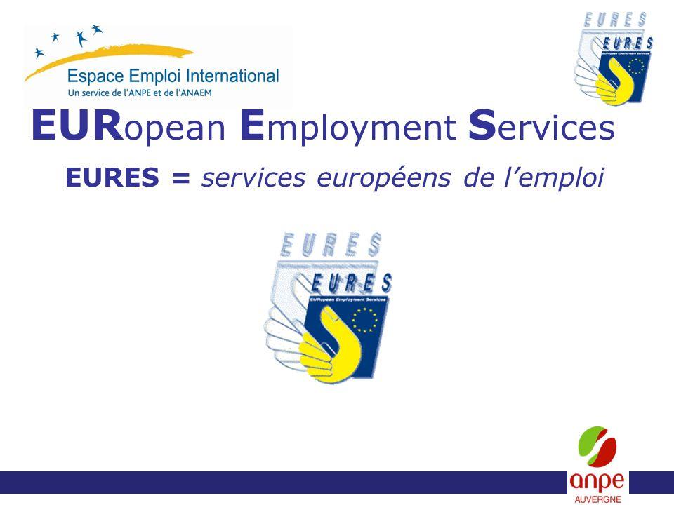 EUR opean E mployment S ervices EURES = services européens de lemploi
