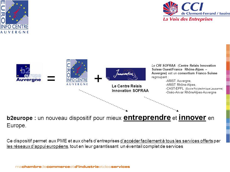 Le CRI SOFRAA (Centre Relais Innovation Suisse Ouest/France Rhône-Alpes – Auvergne) est un consortium Franco-Suisse regroupant : -ARIST Auvergne, -ARI