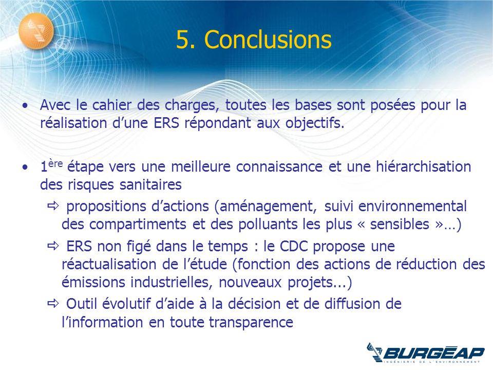 5. Conclusions Avec le cahier des charges, toutes les bases sont posées pour la réalisation dune ERS répondant aux objectifs. 1 ère étape vers une mei