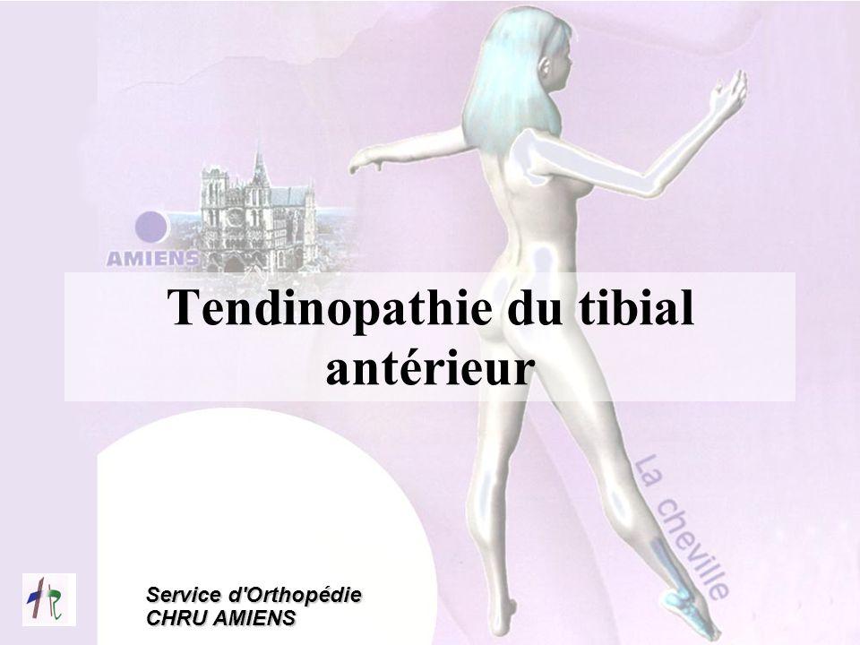 Service d'Orthopédie CHRU AMIENS Tendinopathie du tibial antérieur