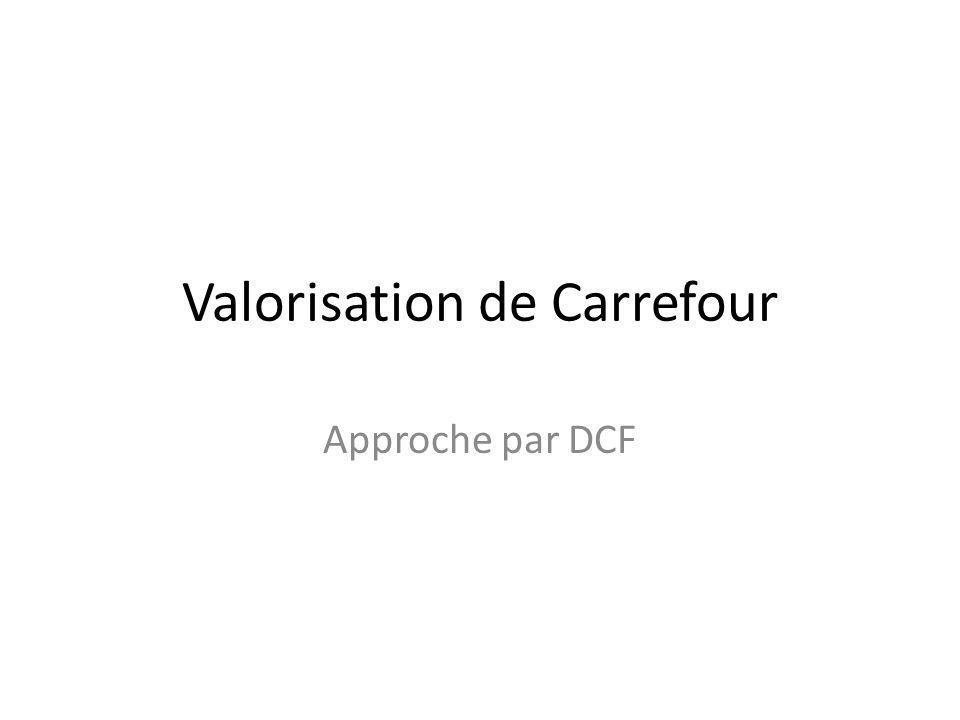 Valorisation de Carrefour Approche par DCF