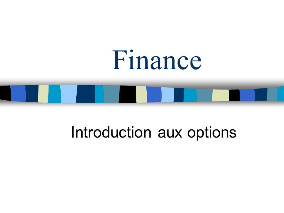 Finance Introduction aux options