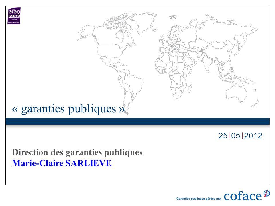 052012 « garanties publiques » Direction des garanties publiques Marie-Claire SARLIEVE 25