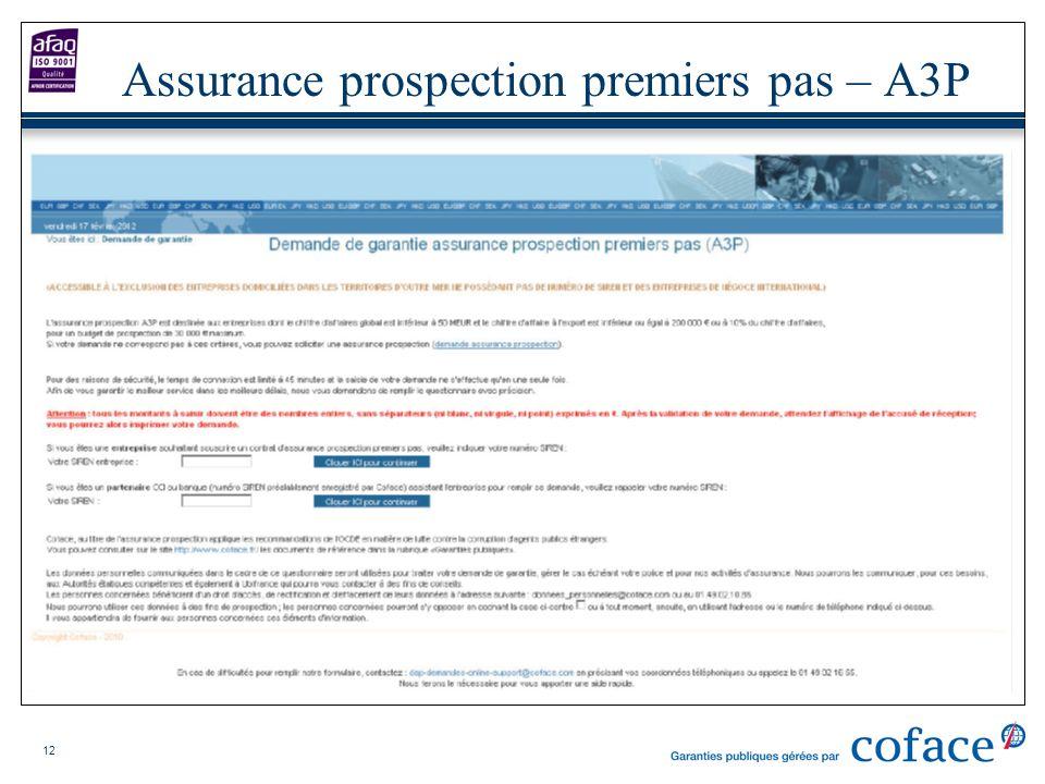 12 Assurance prospection premiers pas – A3P