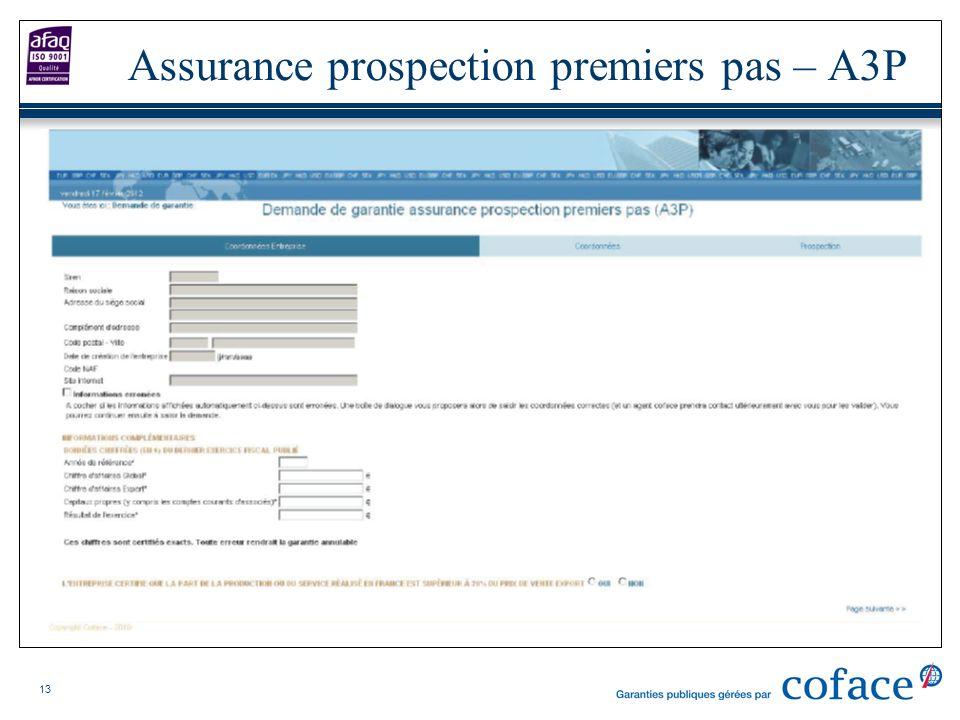 13 Assurance prospection premiers pas – A3P