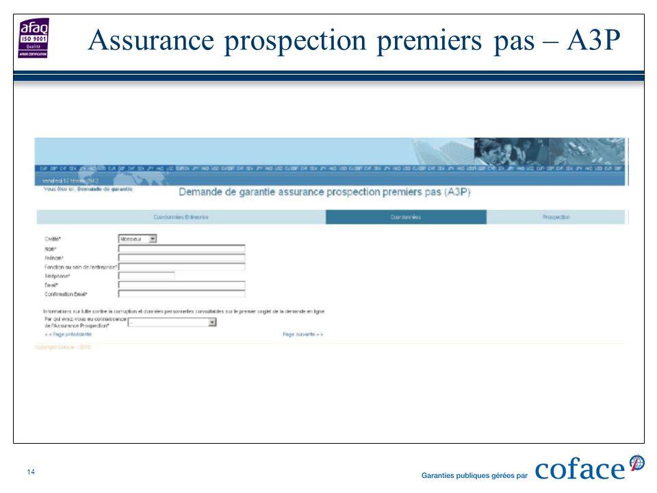 14 Assurance prospection premiers pas – A3P