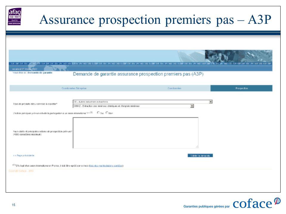 15 Assurance prospection premiers pas – A3P