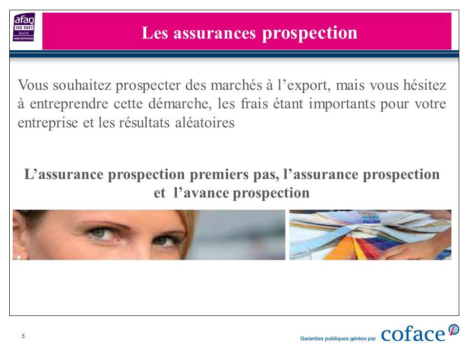 5 Les assurances prospection Lassurance prospection premiers pas, lassurance prospection et lavance prospection Vous souhaitez prospecter des marchés