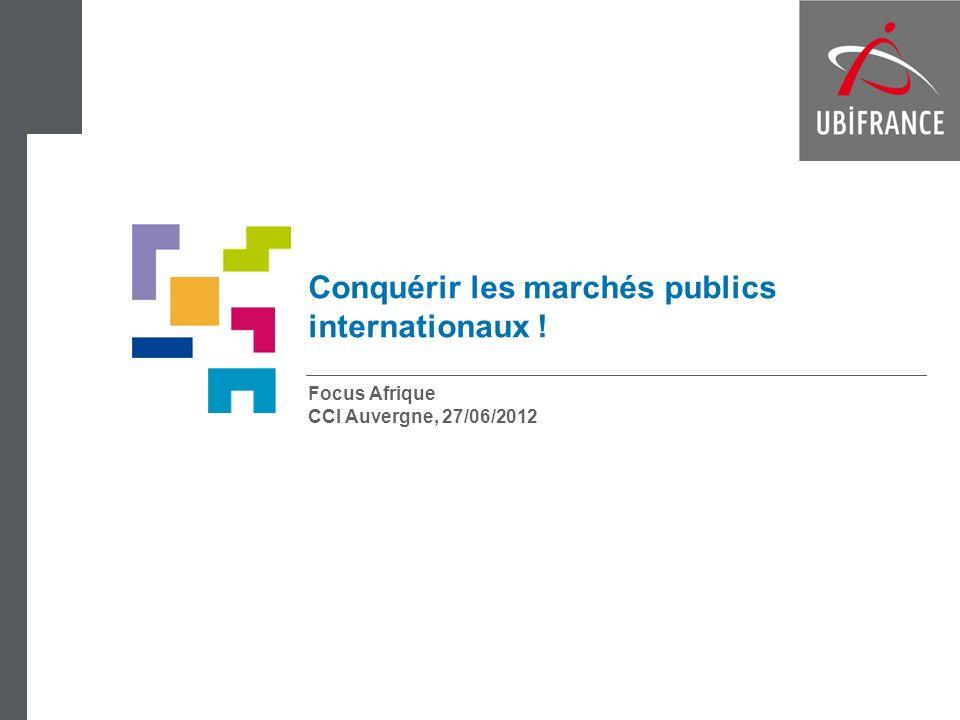 Conquérir les marchés publics internationaux ! Focus Afrique CCI Auvergne, 27/06/2012