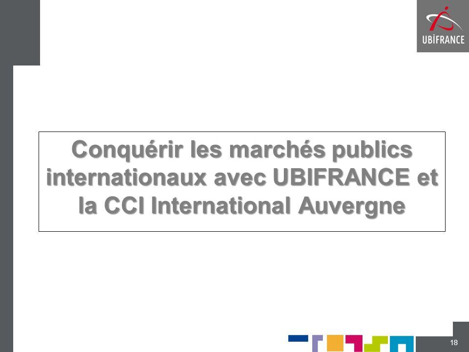 Conquérir les marchés publics internationaux avec UBIFRANCE et la CCI International Auvergne 18