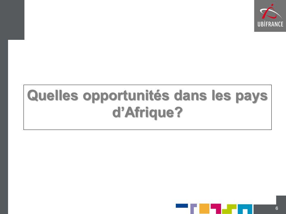 Quelles opportunités dans les pays dAfrique? 6
