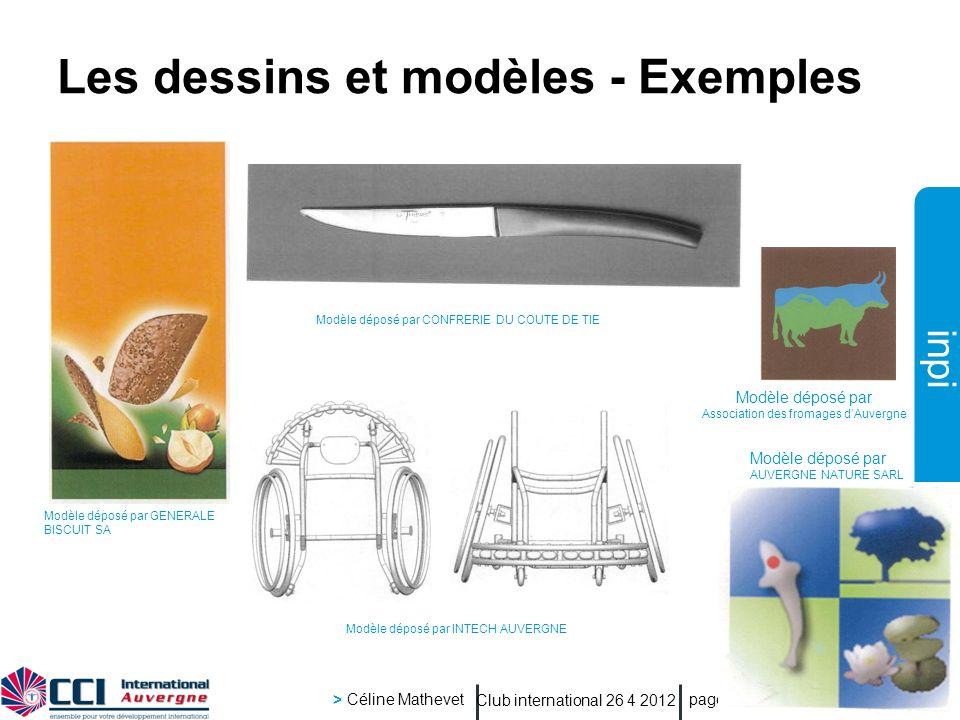 inpi Club international 26 4 2012 > Céline Mathevet page 29 Les dessins et modèles - Exemples Modèle déposé par GENERALE BISCUIT SA Modèle déposé par
