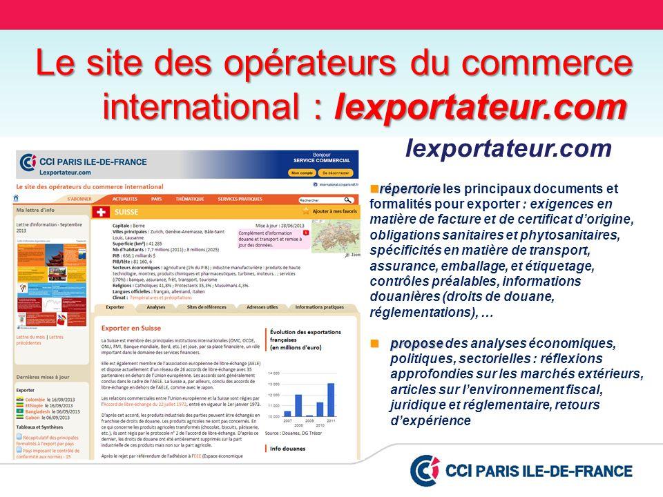 lexportateur.com répertorie répertorie les principaux documents et formalités pour exporter : exigences en matière de facture et de certificat dorigin