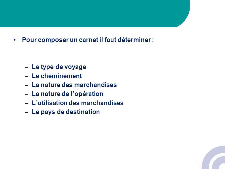 Pour plus d informations, vous pouvez consulter le site internet de la douane http://www.douane.budget.gouv.fr/page.asp?id=233 Et le bulletin officiel des douanes n° 6652 du 16/12/2005 http://www.douane.budget.gouv.fr/page.asp?id=2541