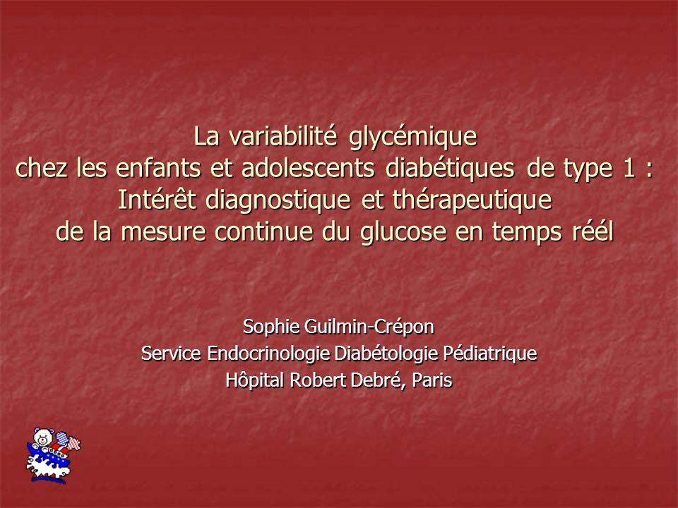 La variabilité glycémique chez les enfants et adolescents diabétiques de type 1 : Intérêt diagnostique et thérapeutique de la mesure continue du gluco