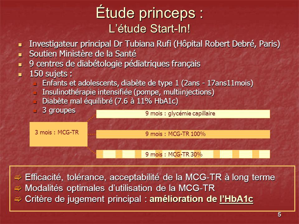 5 Étude princeps : Létude Start-In! Investigateur principal Dr Tubiana Rufi (Hôpital Robert Debré, Paris) Investigateur principal Dr Tubiana Rufi (Hôp