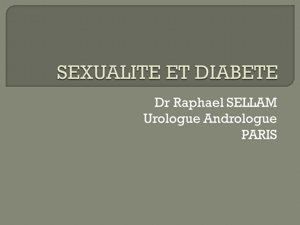 Dr Raphael SELLAM Urologue Andrologue PARIS