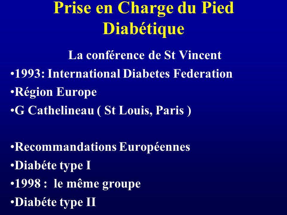 Prise en Charge du Pied Diabétique La conférence de St Vincent 1993: International Diabetes Federation Région Europe G Cathelineau ( St Louis, Paris )