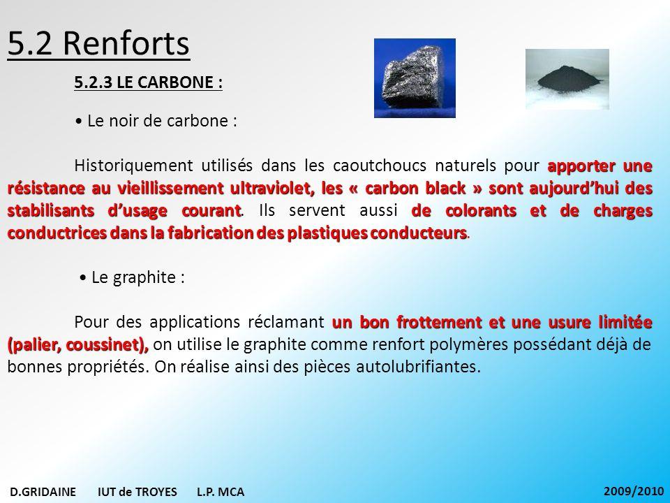 5.2 Renforts 5.2.3 LE CARBONE : Le noir de carbone : apporter une résistance au vieillissement ultraviolet, les « carbon black » sont aujourdhui des s