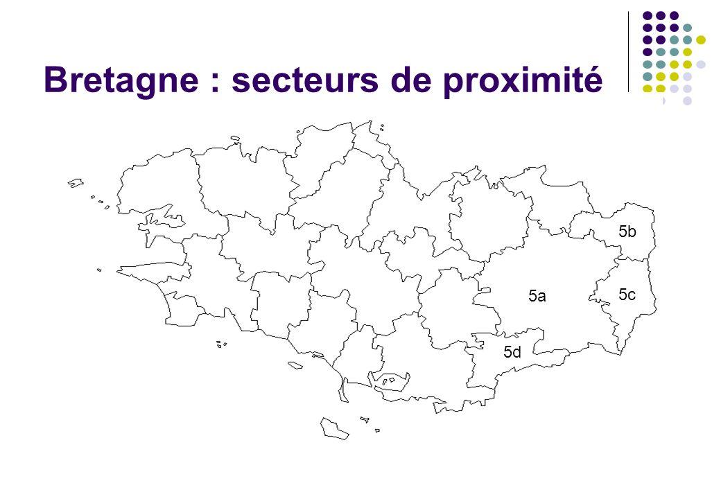 Bretagne : secteurs de proximité 5a 5b 5c 5d