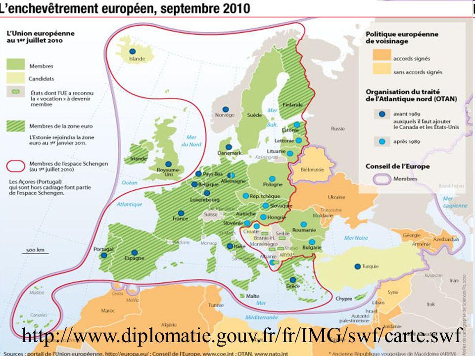 62 26 ème et 27 ème pays membre 1 er janvier 2007 : 6 ème élargissement à la Bulgarie et la Roumanie