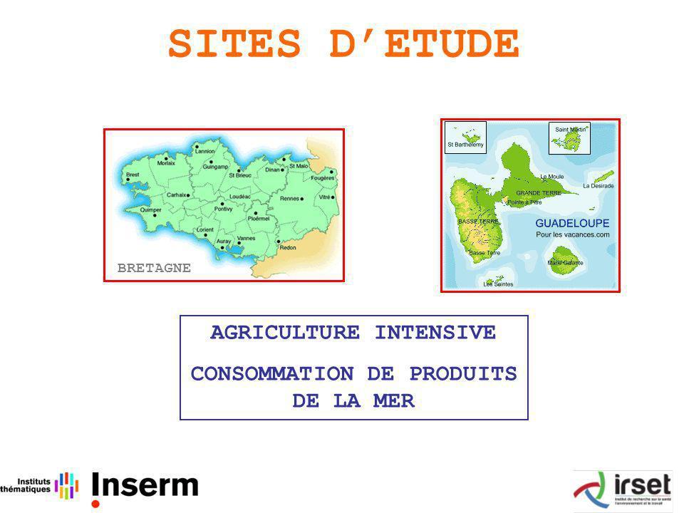 SITES DETUDE BRETAGNE AGRICULTURE INTENSIVE CONSOMMATION DE PRODUITS DE LA MER