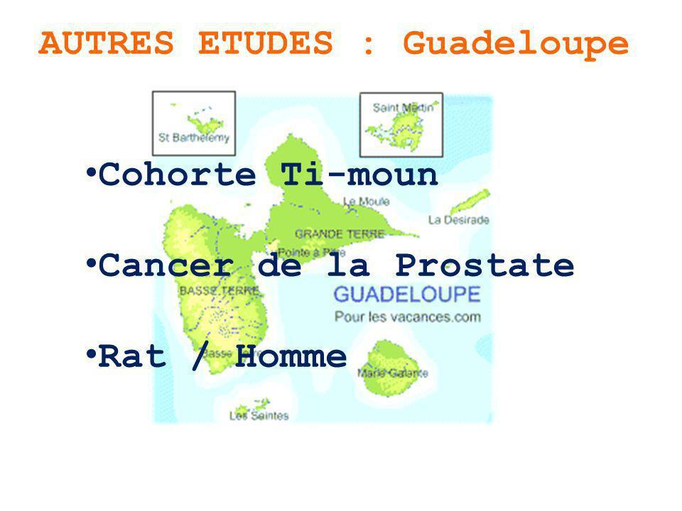 AUTRES ETUDES : Guadeloupe Cohorte Ti-moun Cancer de la Prostate Rat / Homme