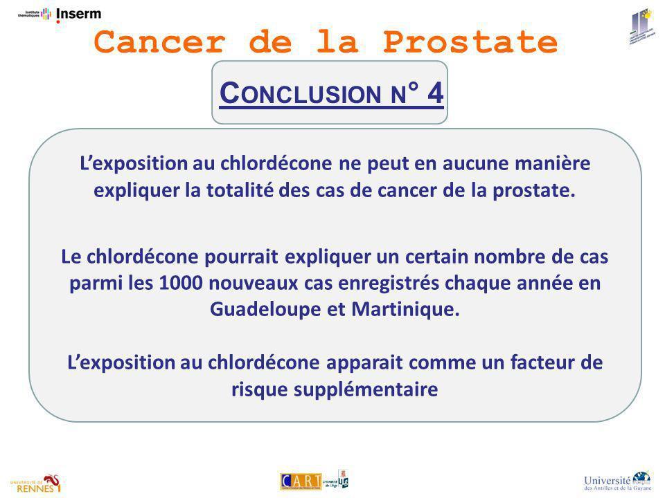 Lexposition au chlordécone ne peut en aucune manière expliquer la totalité des cas de cancer de la prostate.