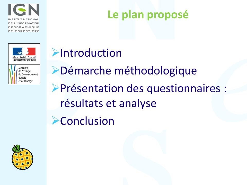 Introduction Un double objectif : recueillir des éléments dévaluation sur le niveau davancement dINSPIRE en région alimenter le rapport triennal Un principe : maintien du choix du niveau régional comme clé de la réussite en France de la mise en œuvre dINSPIRE