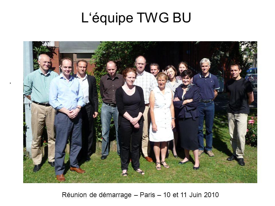 Léquipe TWG BU Réunion de démarrage – Paris – 10 et 11 Juin 2010