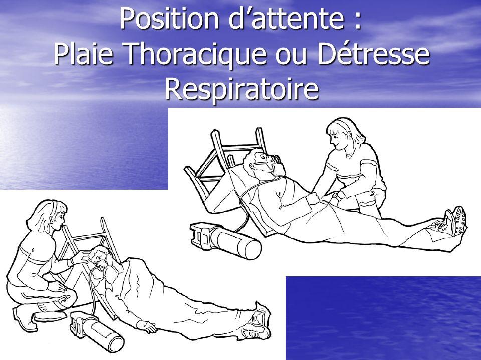 Position dattente : Plaie ou Douleur Abdominale