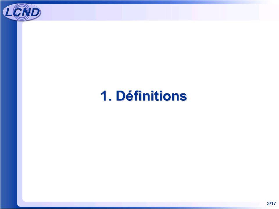 3/17 1. Définitions