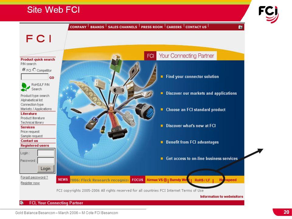 20 Gold Balance Besancon – March 2006 – M Cote FCI Besancon Site Web FCI