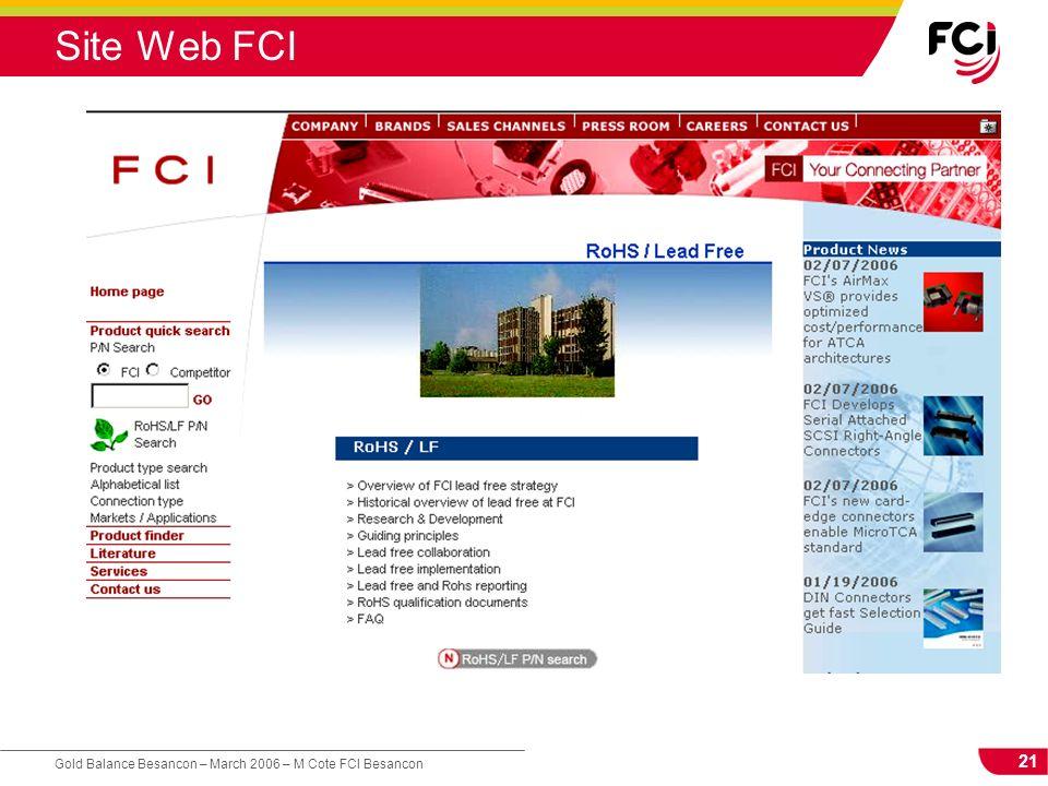 21 Gold Balance Besancon – March 2006 – M Cote FCI Besancon Site Web FCI