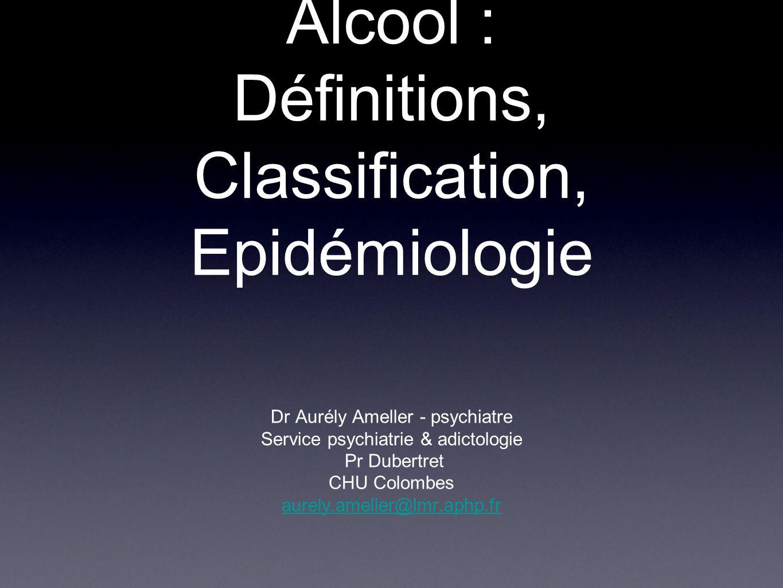 Plan Introduction/généralités Complications liées à lalcool Définitions Épidémiologie