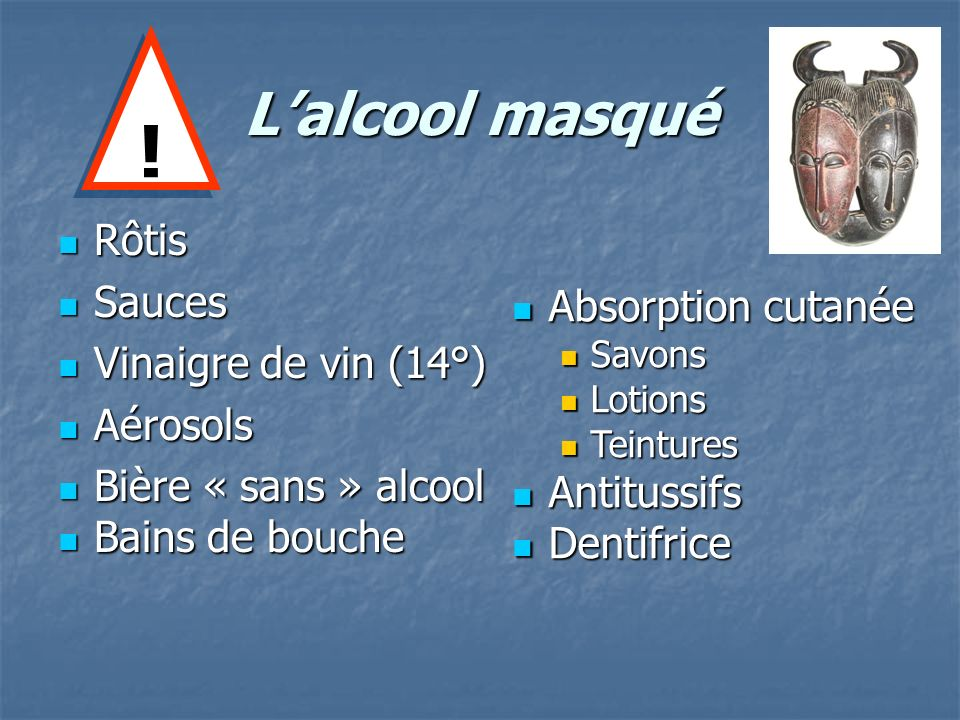 Lalcool masqué Rôtis Rôtis Sauces Sauces Vinaigre de vin (14°) Vinaigre de vin (14°) Aérosols Aérosols Bière « sans » alcool Bière « sans » alcool Bai