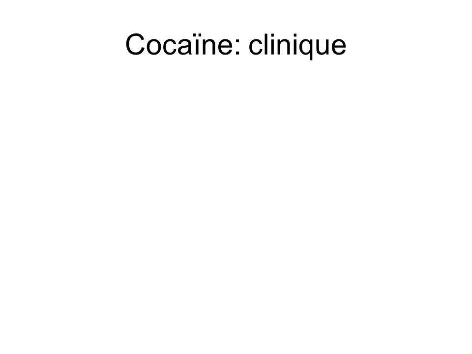 Cocaïne: clinique