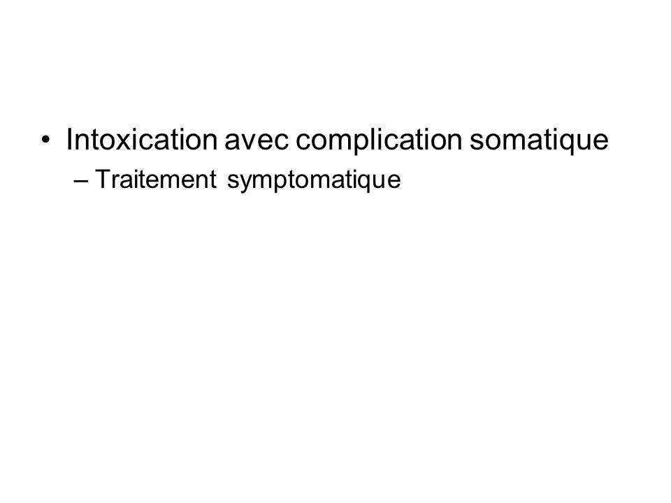 Intoxication avec complication somatique –Traitement symptomatique