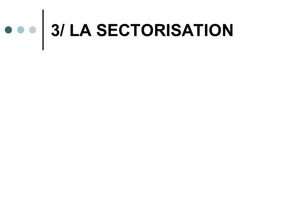 3/ LA SECTORISATION