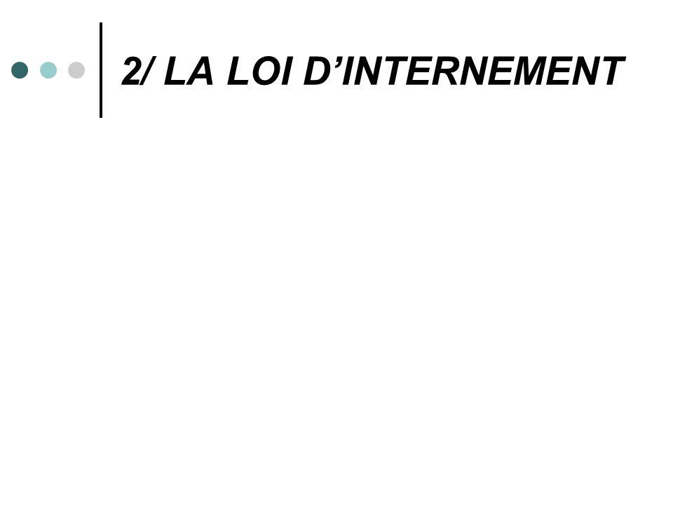 2/ LA LOI DINTERNEMENT