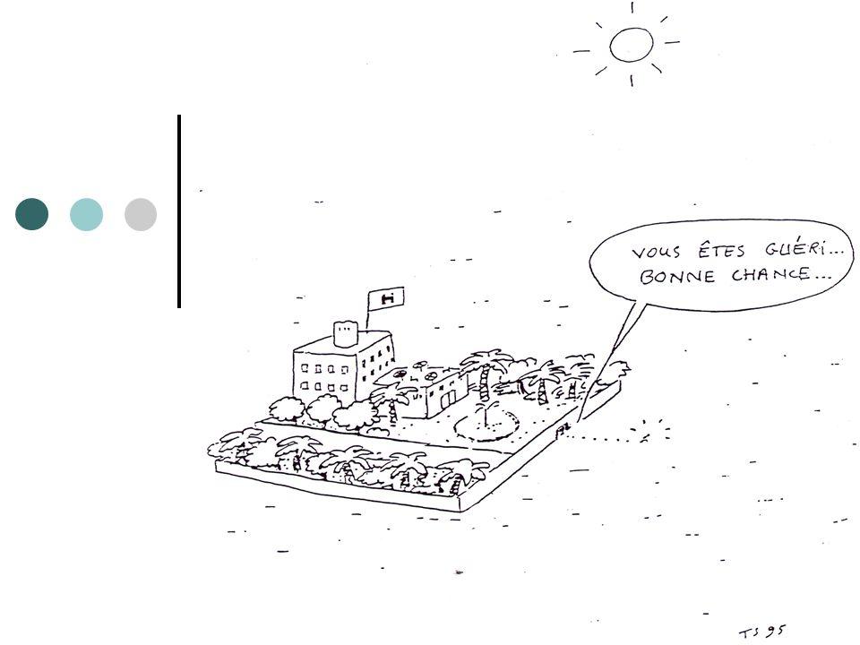 1938 1945 hospitalo-centrisme Ségrégation dindividus dans un lieu concentrationnaire Pas de soins psychiatriques extrahospitaliers Aucune volonté de réhabilitation 1945 1960 20 à 30 % de décès par carence alimentaires durant loccupation allemande Introduction des psychotropes et des pratiques psychothérapiques Apparition des hospitalisations libres ; ouvertures des portes des asiles ; destruction des « murs » 1990 Réforme de la Loi pour saligner sur les recommandations européennes 2011 JUDICIARISATION…