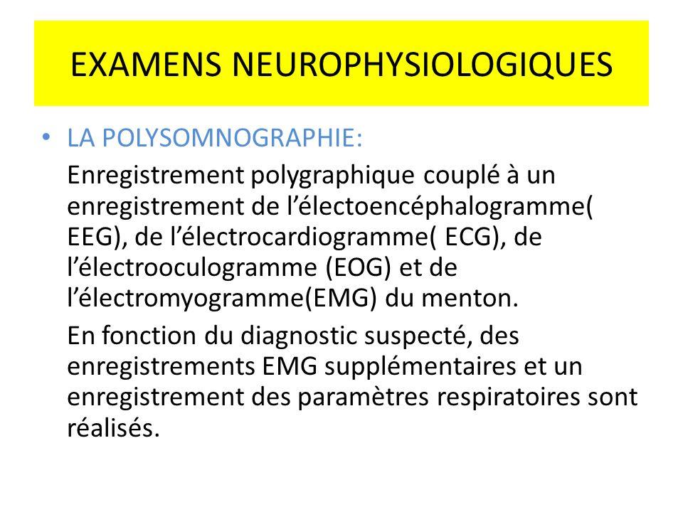 LA POLYSOMNOGRAPHIE: Enregistrement polygraphique couplé à un enregistrement de lélectoencéphalogramme( EEG), de lélectrocardiogramme( ECG), de lélect